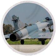 A Hellenic Air Force Mirage 2000 Egm Round Beach Towel