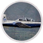 A Hellenic Air Force T-6 Trainer Flying Round Beach Towel