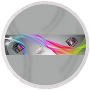 A Higher Place 1 Round Beach Towel