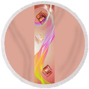 A Higher Place 3 Round Beach Towel