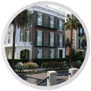 A Historic Home On The Battery - Charleston Round Beach Towel