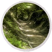 A Hole In The Forest Round Beach Towel by Bob Phillips