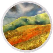 A Journey To The Unknown Round Beach Towel
