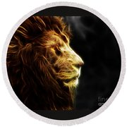 A King's Look 2 Round Beach Towel
