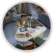A Kitchen Designed By Ralph & Jane Bonnell Round Beach Towel
