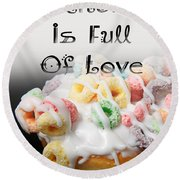 A Kitchen Is Full Of Love 14 Round Beach Towel