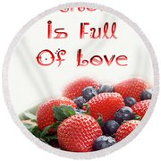 A Kitchen Is Full Of Love 9 Round Beach Towel