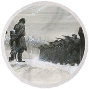 A Last Minute Reprieve Saved Fyodor Dostoievski From The Firing Squad Round Beach Towel
