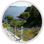 A Long Way Down Round Beach Towel