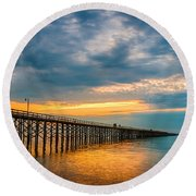 A Long Way Out Round Beach Towel