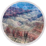 A Look Into The Grand Canyon  Round Beach Towel