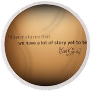 A Lot Of Stories Round Beach Towel