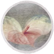 A Love Letter Round Beach Towel