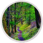 A Magical Path To Enlightenment Round Beach Towel