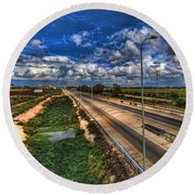 a majestic springtime in Israel Round Beach Towel