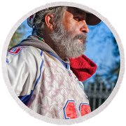 A Man With A Purpose Round Beach Towel