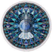 A Mandala Abstract Round Beach Towel