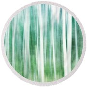 A Matter Of Blues Round Beach Towel by Priska Wettstein