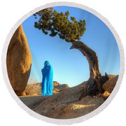 A Matter Of Time 1 Round Beach Towel