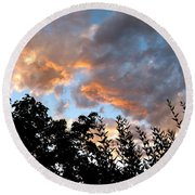 A Memorable Sky Round Beach Towel by Will Borden