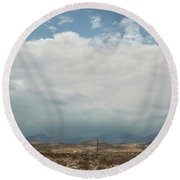A Mix Of Emotions Round Beach Towel by Laurie Search