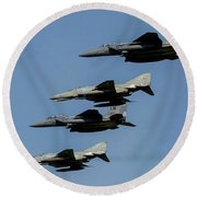 A Mixed Formation Of U.s. Air Force Round Beach Towel