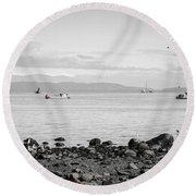 A Moment In Time Herring Season Round Beach Towel