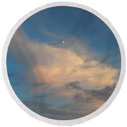 A Moon Lit Day Round Beach Towel