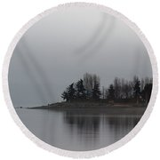 A Morning For Reflection Round Beach Towel