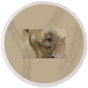 A Mothers Eye Round Beach Towel