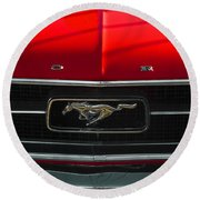 A Mustang  Round Beach Towel