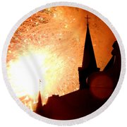 New Orleans St. Louis Cathedral A New Day A New Year In Louiisana Round Beach Towel
