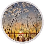 A New Day Begins ... Round Beach Towel