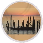 A New Day Round Beach Towel