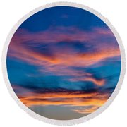 A New Day Starts Round Beach Towel