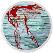 A New Nation - South Sudan Round Beach Towel