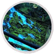 A New Perspective Round Beach Towel