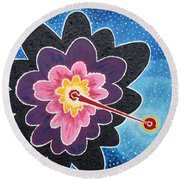 A New Star Is Born. Round Beach Towel