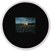 A Night At The Drive In Round Beach Towel
