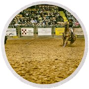 A Night At The Rodeo V16 Round Beach Towel
