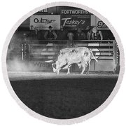 A Night At The Rodeo V2 Round Beach Towel
