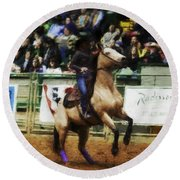 A Night At The Rodeo V29 Round Beach Towel