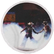 A Night At The Rodeo V3 Round Beach Towel