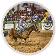 A Night At The Rodeo V31 Round Beach Towel