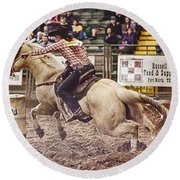 A Night At The Rodeo V34 Round Beach Towel