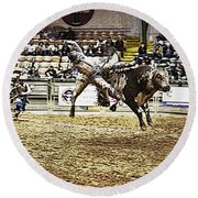 A Night At The Rodeo V36 Round Beach Towel