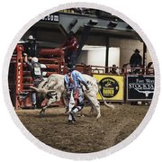 A Night At The Rodeo V39 Round Beach Towel