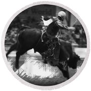 A Night At The Rodeo V4 Round Beach Towel