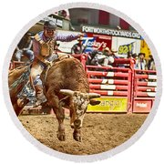 A Night At The Rodeo V5 Round Beach Towel