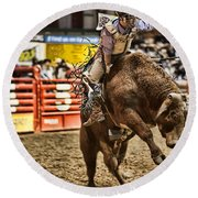 A Night At The Rodeo V6 Round Beach Towel